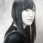 [pnw01002] 海おばさん G1-S2 油彩 完成作品